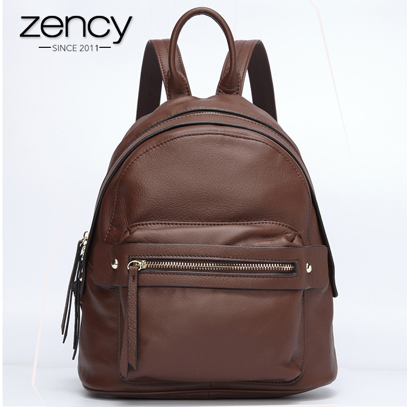 New Arrival Zency Soft Skin 100% Genuine Leather Fashion Women Backpack School Bags For Girls High Quality Ladies Travel Bags 2017 new arrival leather backpack casual bags