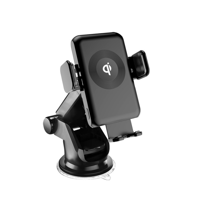 New Wireless Car Phone Charger Holder 10W/7.5W/5W Qi Standard Fast Charging Windshield Stand For IPhone For Samsung