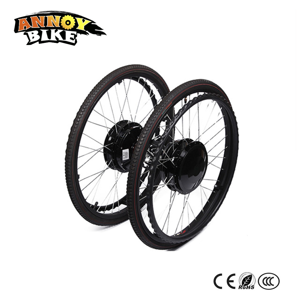 24inch 24V180W Electric Wheelchair Motor Silver Brush Motor Built in Brakes Brush Gear Hub Motor With Electromagentic Brake Electric Bicycle Motor     - title=