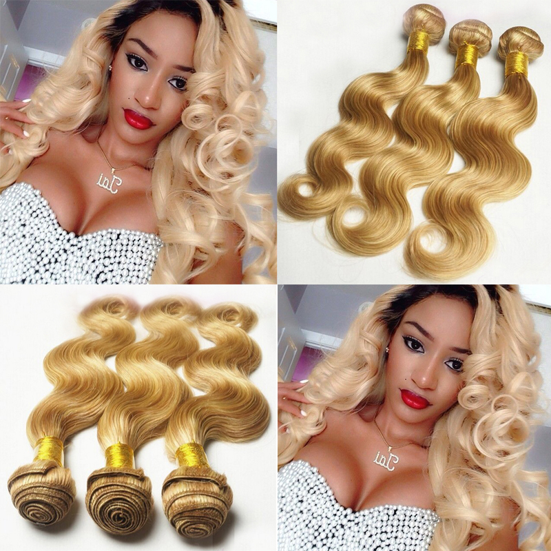 Bliss Free Shipping 3pcs Hair Color 27 613 Brazilian Body Wave Ombre