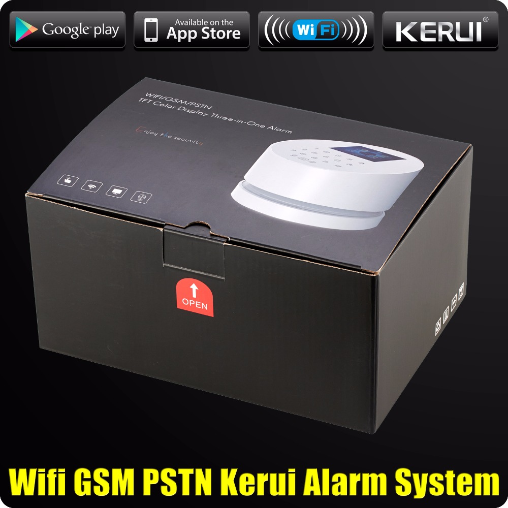 Image 5 - 2019 KERUI W2 WiFi GSM PSTN RFID Home Alarm Security System TFT color LCD Display ISO Android App Remote Control WiFi Alarm RFID-in Alarm System Kits from Security & Protection