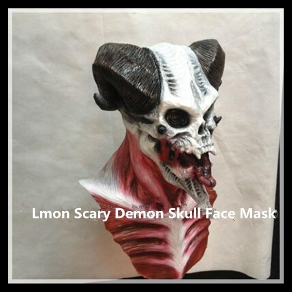 2016 nova festa de Halloween Cosplay Latex cabeça completa máscara Horror realista demônio Costume da máscara do crânio fantasma assustador máscara para Cosplay - 2
