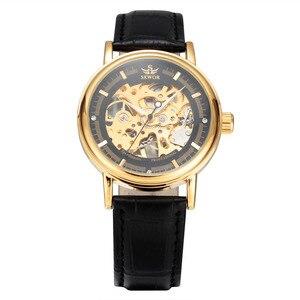 Image 3 - ผู้ชายนาฬิกาหรูSEWORนาฬิกาข้อมือยี่ห้อR EtroสายหนังโครงกระดูกนาฬิกาRelogioชายทองวิศวกรรมโครงกระดูกนาฬิกา