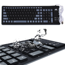 Waterproof Roll Up Silica Gel Keyboard