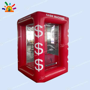 Cash-Cube Money-Booth Inflatable with 2-Blowers Airtight