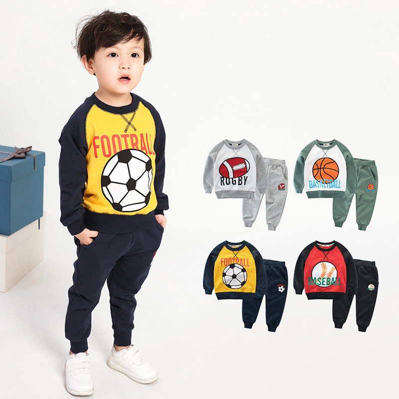 Boy clothing set kids sports suit children tracksuit girls Tshirt pant baby sweatshirt character casual clothes 2019