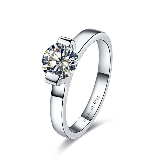 Top Brand 1CT Synthetic Diamonds Ring for Women Wedding Rings Finger