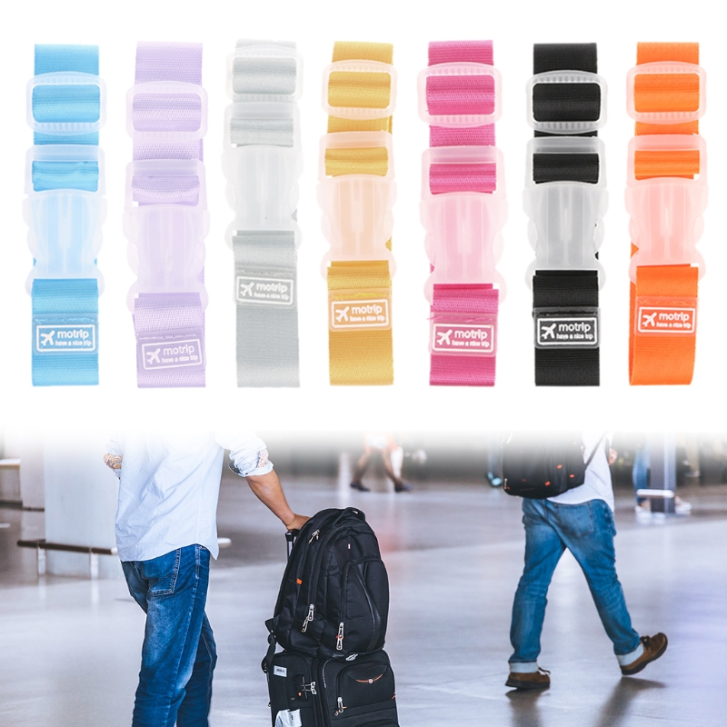 Adjustable Luggage Straps Tie Down Belt For Baggage Travel Buckle Lock Suitcase Colorful