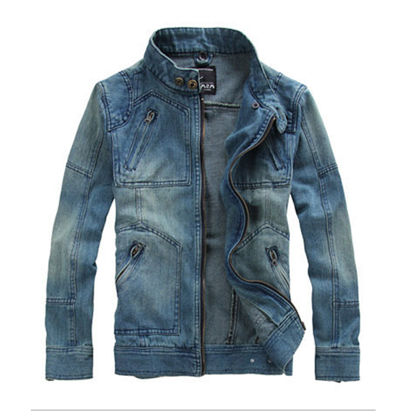 Mens Hood Denim Jacket Male Outwear Brand Coat Spring Autumn Fashion Retro Jeans Jacket Plus size Men Jacket Mens Bomber Jackets