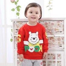 New Brand Korean Children Clothing Baby Boys Girls T-shirt Cartoon Children Tshirt Sweatshirt Kids Baby Girls Clothes Autumn Top