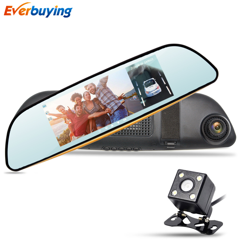 6 5 IPS Car DVR Camera Mirror with LDWS ADAS Dual Lens FHD 1080P Video Recorder