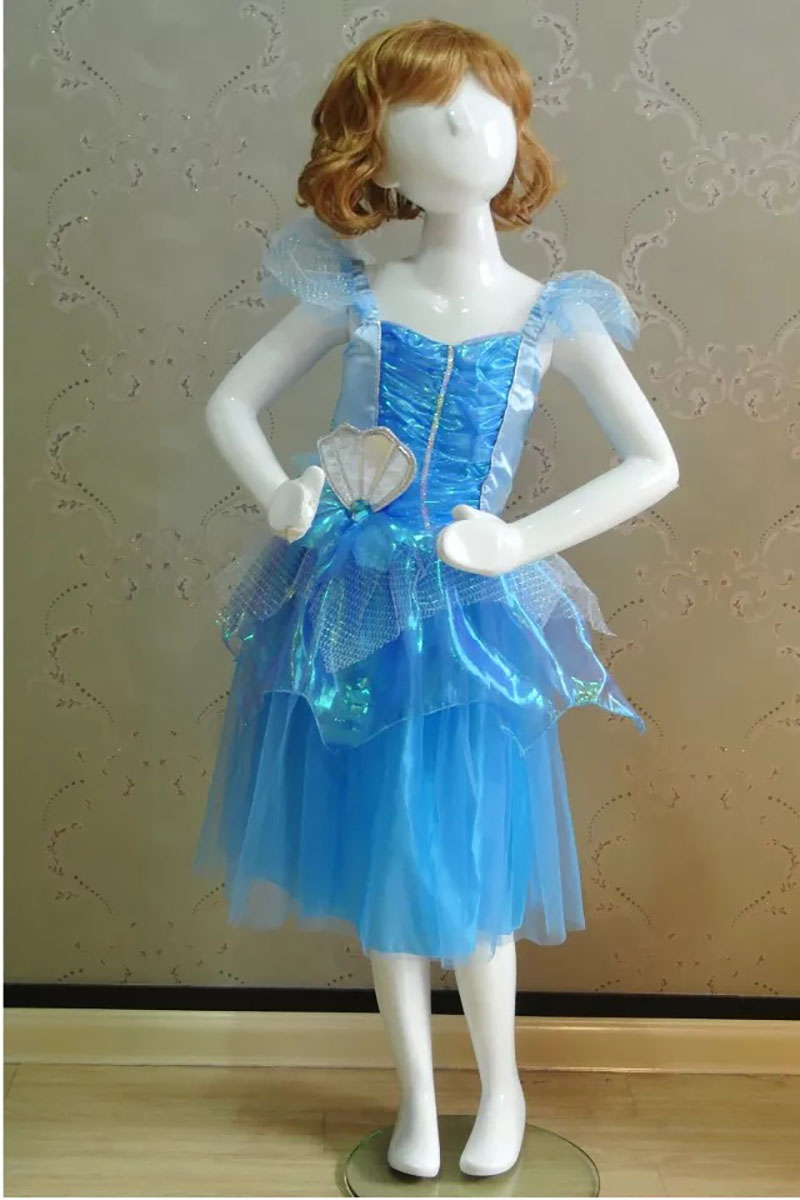 Kid Girls Halloween Mermaid Princess Costume Blue