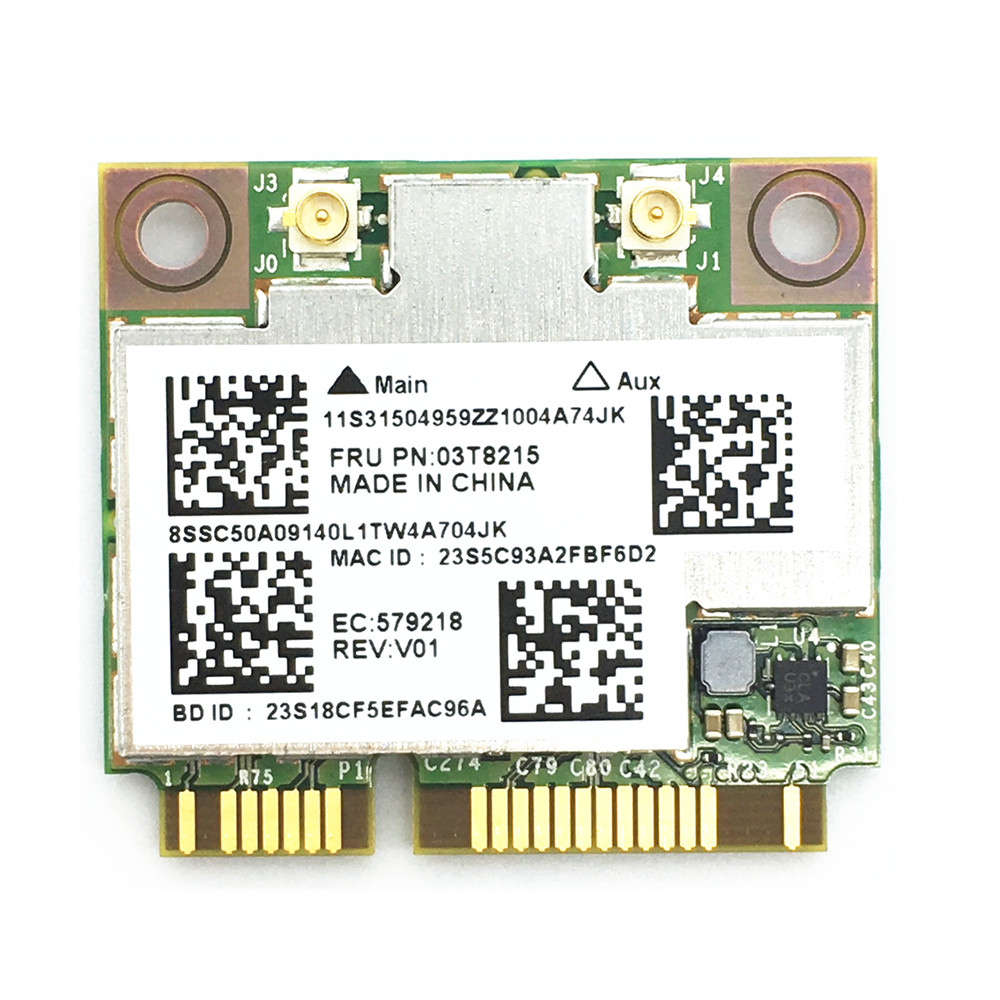 Broadcom BCM94352HMB 802.11ac Dual Band 2x2 Wireless-AC Wifi+Bluetooth BT 4.0 867Mbps Half Mini PCI-E Card for IBM/Lenovo цена