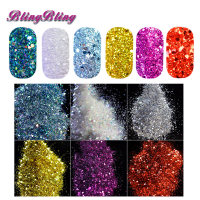 6 Color Nail Glitter Pentagon Sequins Holographic Powder DIY Nail Art Gold Silver Red White Color