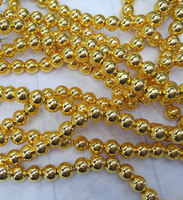 100pcs 4 12mm 14K Real Solid Gold Seamless Round Beads Round Ball Solid Brass Bead Rose