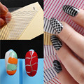 Gold and silver lines nail stickers affixed stickers anti wavy lines straight plane stickers affixed 12 colors
