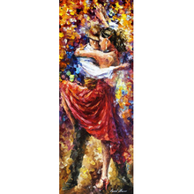 Hand Painted Landscape Abstract Tango Of Movement Knife Modern Oil Painting Canvas Art Living Room hallway Artwork Fine Art