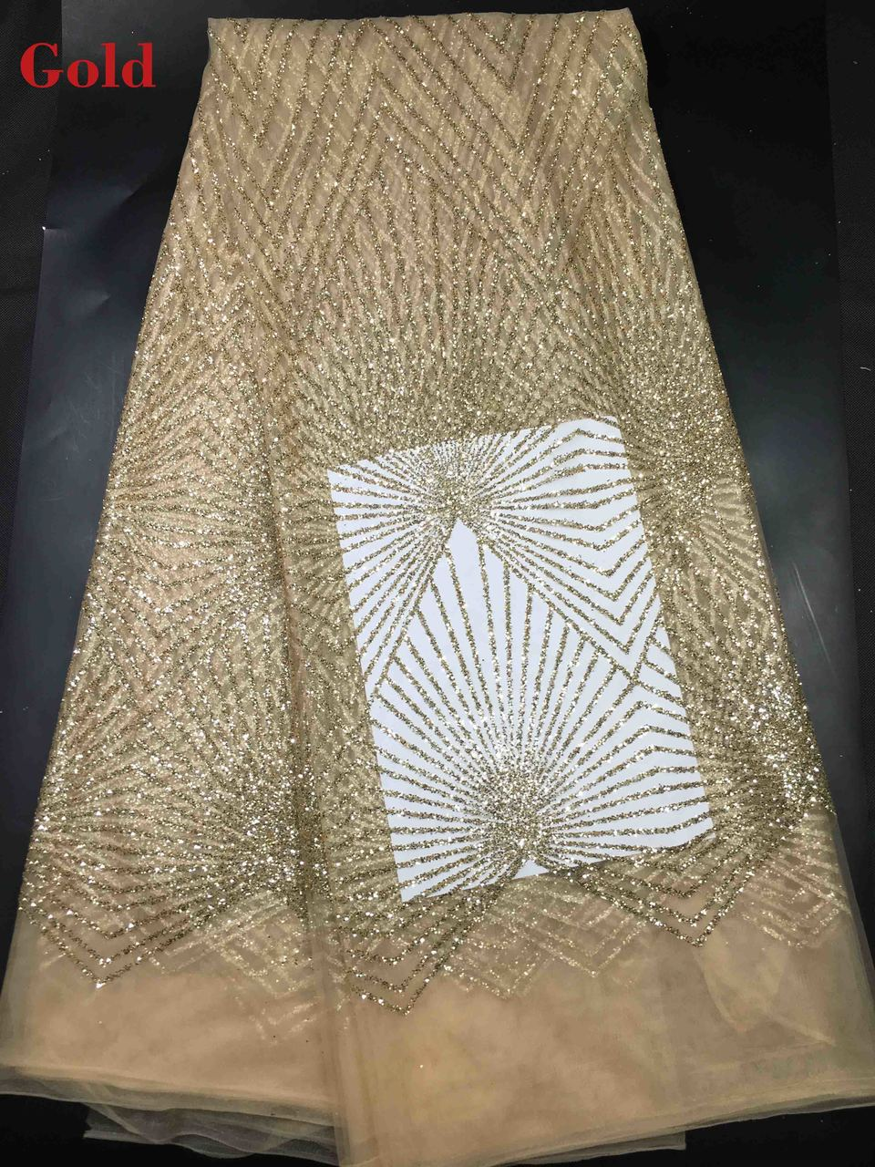 Detail Feedback Questions about Gold Glitter Mesh Fabric For Evening Dress  glittering Gold Sequin Fabric For Dress 2019 African French Lace Fabric High  ... 85cb93c59bb3