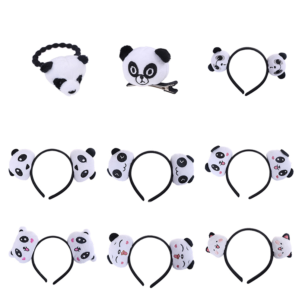 New Little Plush toys For Baby Hair Band Hair TIE Cute and Beautiful Kid's Party Gift Panda Plush Stuffed toys 9 Styles