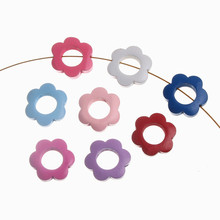 DIY 10Pcs Inner Diameter 13.5mm Garland Wood Spacer Beads Flower Shape Wood Beads Decoration For Jewelry making