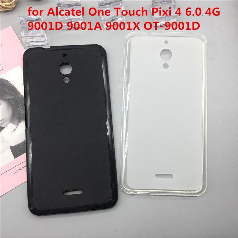 Оригинальный ТПУ чехол для телефона Чехлы для Alcatel One Touch Pixi 4 6.0 4 г 9001D 9001A 9001X OT-9001D Матовая Мягкий силиконовая задняя крышка