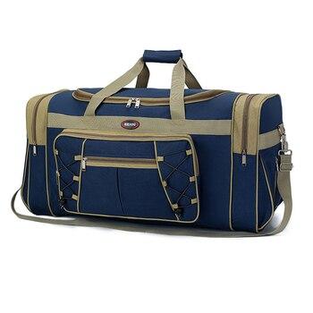 Большая Дорожная сумка объемом 50 л, нейлоновые уличные сумки, однотонная спортивная сумка, мужские сумки для поездок, кемпинга, 6 цветов, WX133