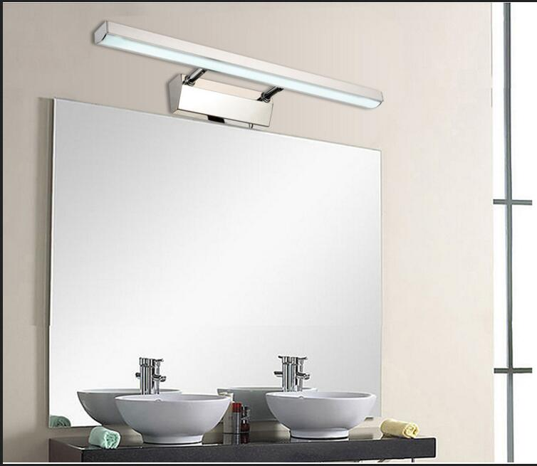 Mirror front light LED headlight lamp Restroom waterproof bathroom cabinet thickened health desk lamp telescopic lamp fog tide dvolador luxury crystal led mirror front light 10w 15w ac110 220v bathroom waterproof anti fog led stainless steel wall light