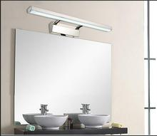 Mirror Front Light LED Headlight Lamp Restroom Waterproof Bathroom Cabinet Thickened Health Desk Telescopic Fog Tide
