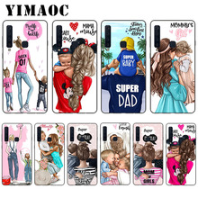 YIMAOC Super Mom Dad And Baby Soft Case for Samsung Galaxy A3 A5 A6 A7 A8 A9 Plus Note 8 9 A10 A30 A40 A50 A70