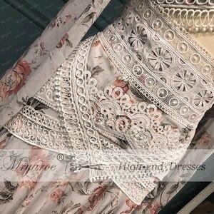 Image 3 - Mryarce Morden Bride Floral Flowy Chiffon Boho Chic Wedding Dress Off The Shoulder Open Legs  Bridal Gowns