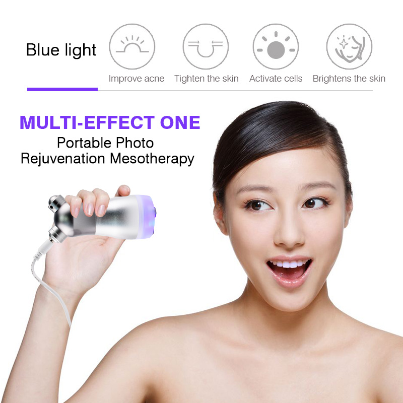 Portable Photon Facial RF Radio Frequency Machine Face Lift No Needle Mesotherapy Mesoporation Skin Care Body Slimming Device ikakon face skin ems lift tighten beauty machine electroporation rf radio frequency facial led photon skin care device face
