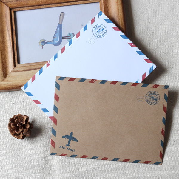 A6 Airmail Envelopes 50 Pcs Retro Brown Wedding Invitation Without Postcard In Cards Invitations From Home Garden On