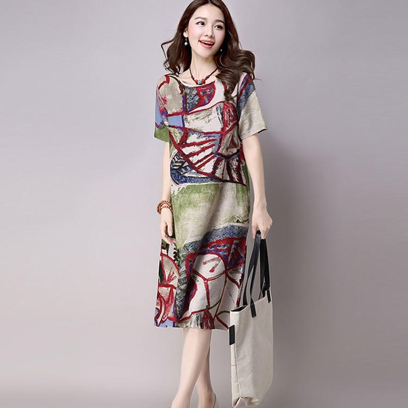 Leinen Kleid Online Shopping Indien Sommerkleid Frauen 2017 Hippie ...