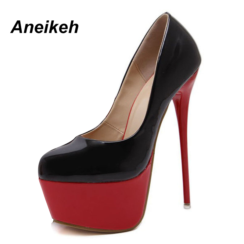 red red Talons De Bout Soirée forme Rond 2018 Escarpins Été Sexy Black Chaussures Noir Automne black À Femmes Pompes Haute Plate OTXuPikZ