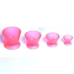 Image 5 - Tigela de mistura de silicone, 4 unidades, novo laboratório dental ecológico, tigela, copo, tigela de mistura, equipamentos médicos dentários de borracha, tigela de mistura