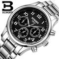 Switzerland watches men luxury brand Wristwatches BINGER  Mechanical Wristwatches full stainless steel Waterproof B6036-18