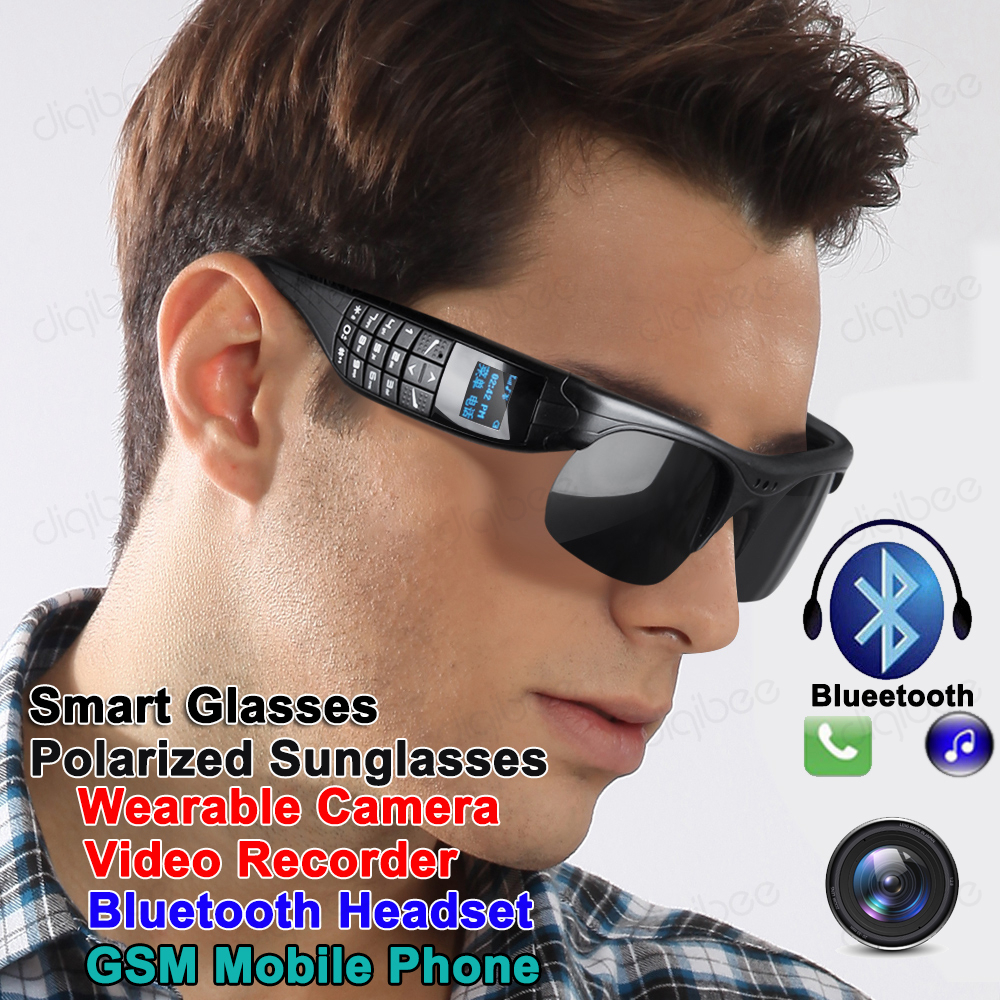 Multi function Eyewear GSM Cell Phone Stereo Bluetooth 4.1 Headset Sunglasses Camera Video Voice Recorder G5 Smart Glasses