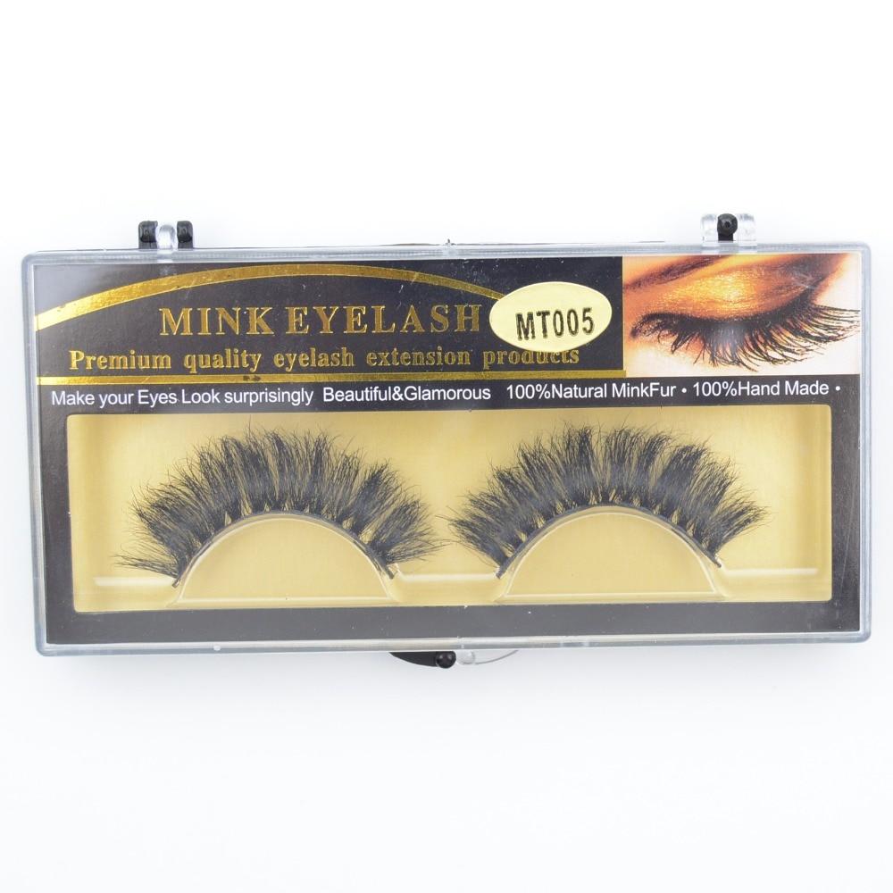 1 Pair/set Horse Hair False Eyelashes 100% Handmade Natural Messy False Eyelashes Thick Long Fake Eye Lashes Eye Extension MT005