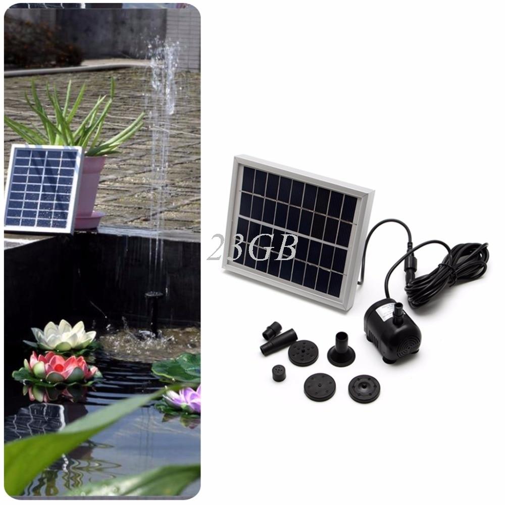 9V 2W Solar Fountain Pump Kit For Pool Pond Bird Bath Garden Decor Submersible J24