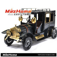 zakka grocery handmade retro tin toy nostalgia classic car model Decoration gifts support mixed batch
