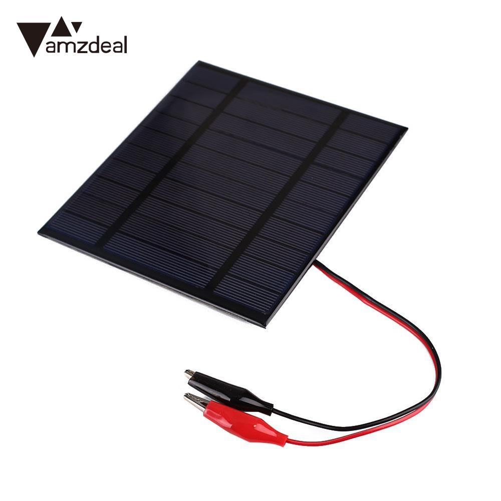 Amzdeal 2.5W DC 5V Polycrystalline Silicon Solar Panel Module Cell DIY Battery General Outdoor Supply Battery Charger