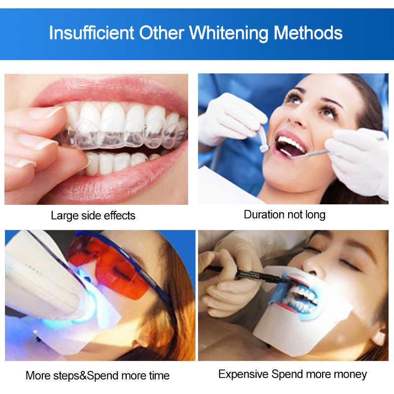 2 шт./пакет 3D белый гель зубные отбеливающие нити средство для гигиены полости рта для чистки сухое отбеливание зубов полоски повседневную жизнь легкой для Применение TSLM2