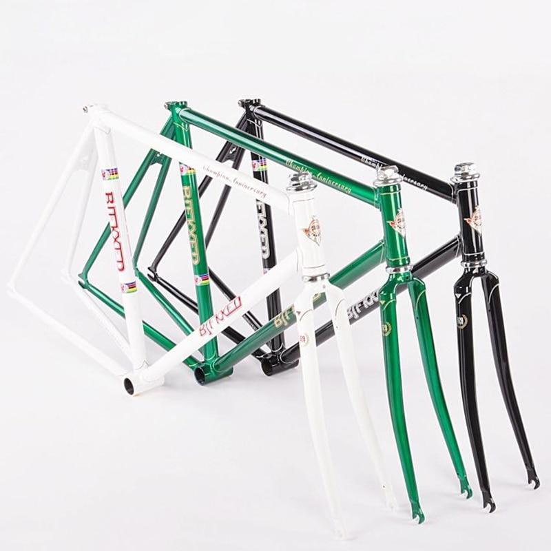 chrome molybdenum steel frame 52 cm 54 cm fixed gear bike restoring road bike frame 700