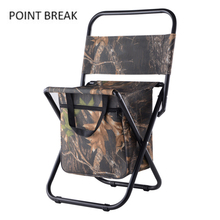 Outdoor Camping Foldable Camping Chair Fishing Chair Multifunctional Folding Fishing Chair With Backpack