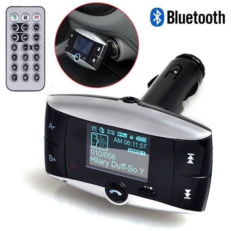 """imágenes para 1.5 """"Pantalla LCD Bluetooth Car Kit Reproductor de MP3 FM Transmisor Inalámbrico de Radio Adaptador Con la función de IDENTIFICACIÓN de Altavoz de Control Remoto"""