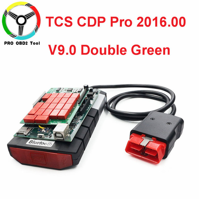 High Quality TCS CDP Pro Plus 2016.00 Green Double Board V9.0 Dignostic Scanner 2016.R0/2015.R3 NEC Relay Car Truck With Keygen