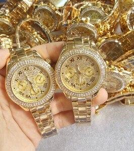 Image 4 - 2019 nova mulher strass relógios senhora vestido relógio feminino diamante marca de luxo pulseira relógio de pulso senhoras cristal quartzo relógios
