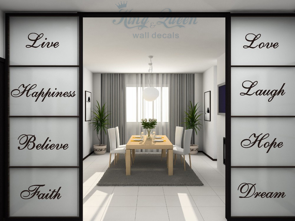 Aliexpresscom Buy Words Wall Quotes Art Vinyl Stickers Home - Dining room vinyl wall quotes