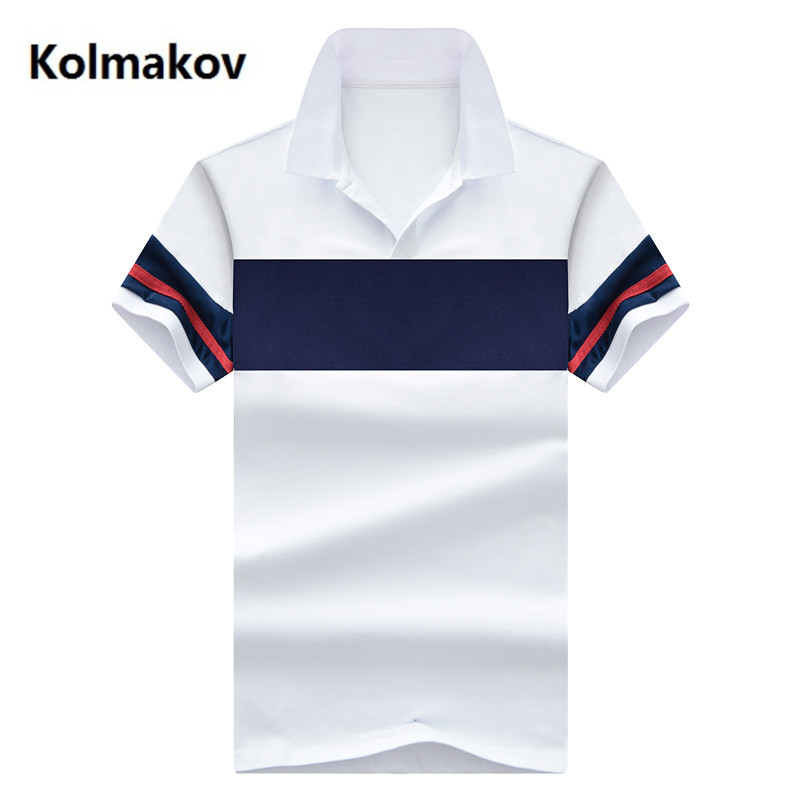 2019 Mode Joint Farbe Polos Herren Polo Shirts 100% Baumwolle Slim Fit Kurzarm Polo Beiläufige Männliche Polo-shirt M -4xl