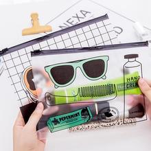 Прозрачный чехол для карандашей A5, простая сумка на молнии из ПВХ, держатель для файлов для девочек и мальчиков, 17*23 см